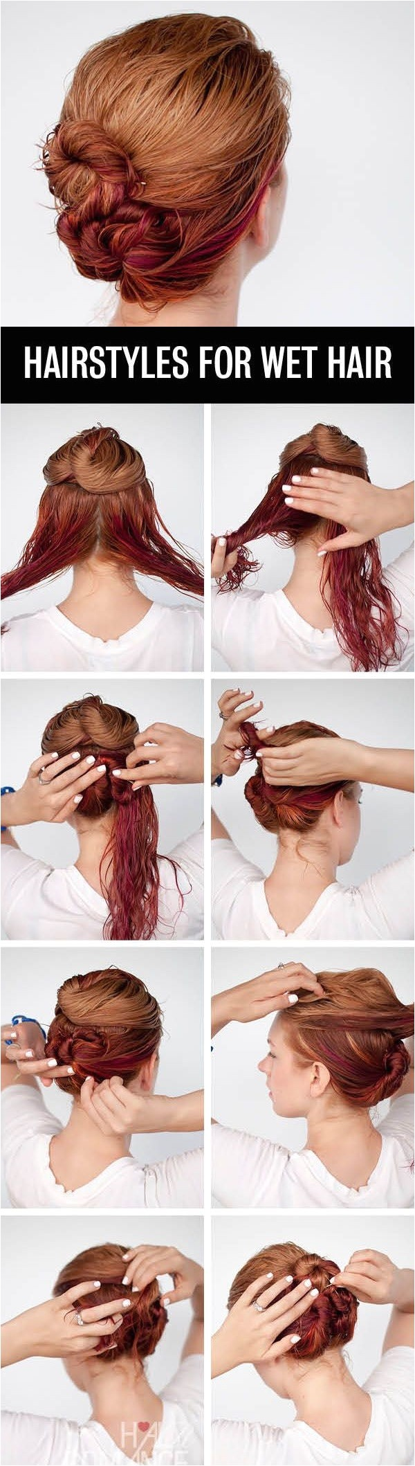 quick hairstyle for wet hair