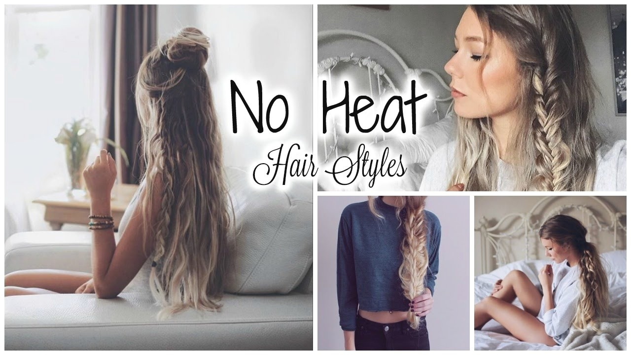 cute easy no heat hairstyles