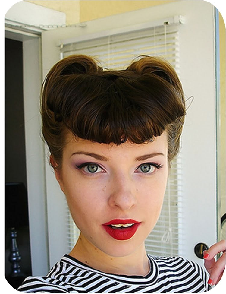 quick and easy vintage hairdos