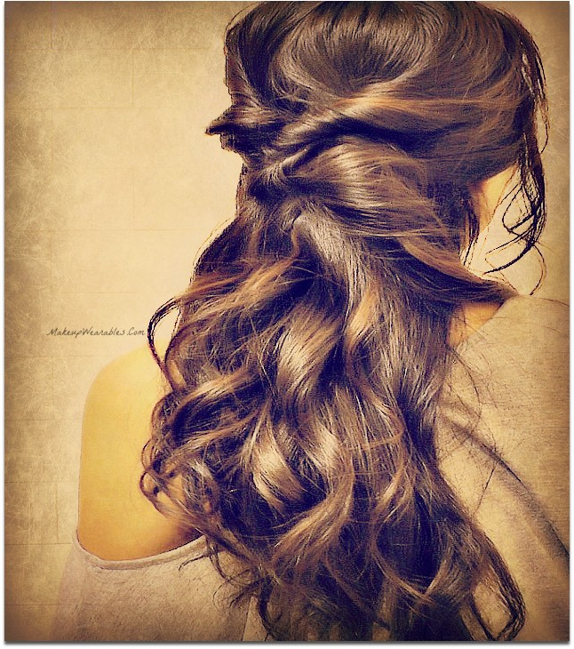 Quick Easy Fancy Hairstyles Elegant Curly Half Updos Hairstyle for Medium Long Hair