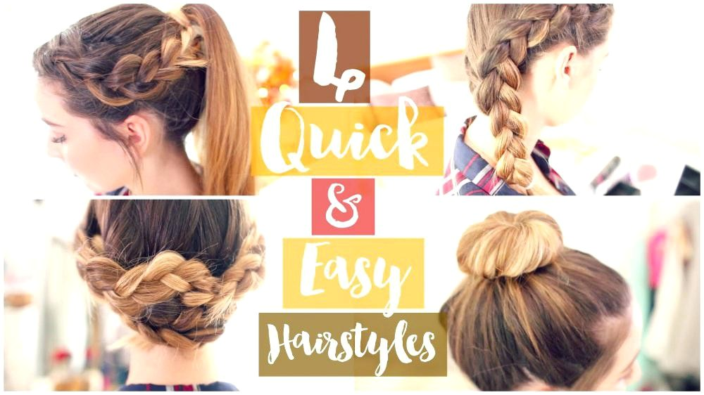 quick and easy hairstyles for thin straight hair