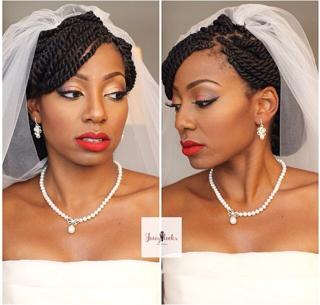 bridal beauty black natural hair bride senegalese twist braids