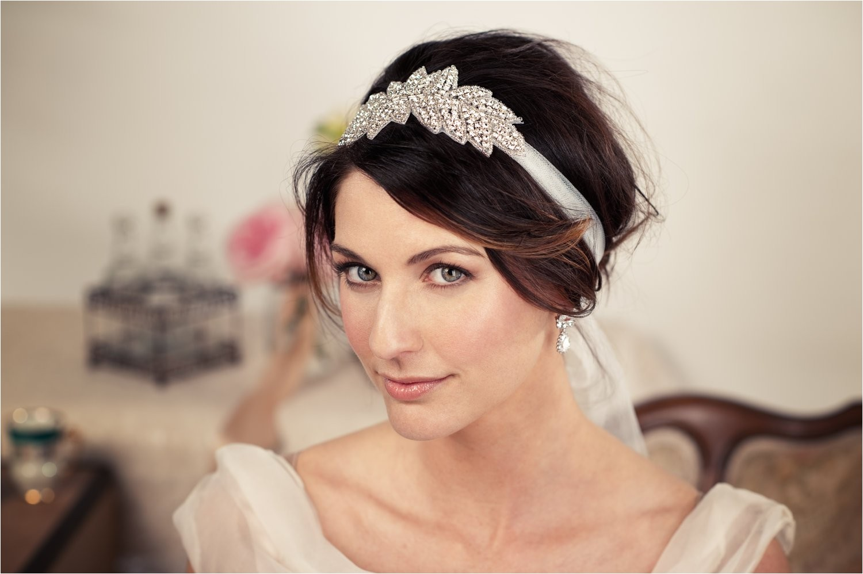 stylish short wedding hairstyles with headband