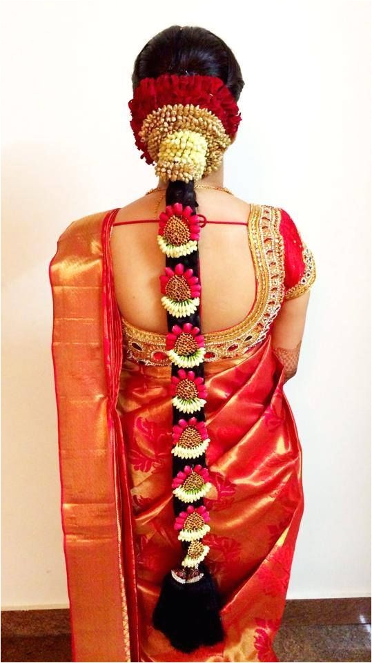 south indian wedding hairstyles with saree outfits