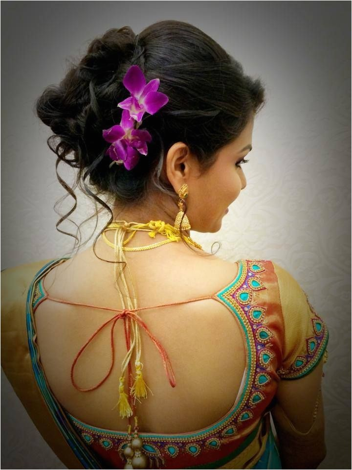 south indian bridal hairstyles wedding reception with pictures and photos