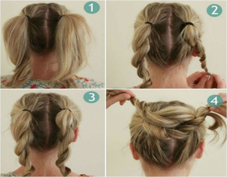 step by step bun hairstyles with pictures