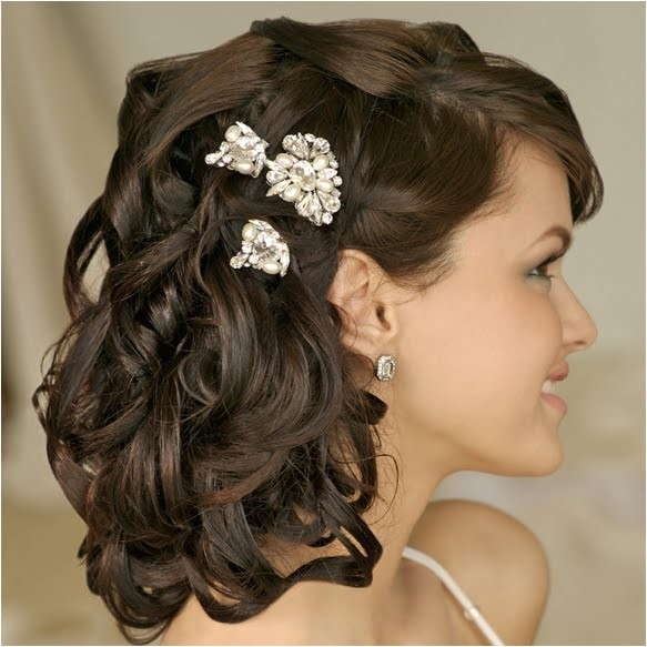 wedding hairstyles for medium length