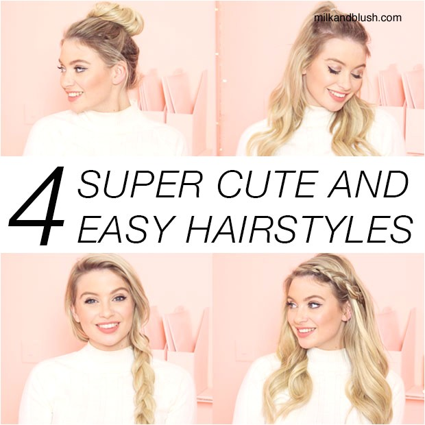 super cute quick and easy hairstyles