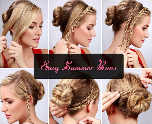 easy bun hairstyle tutorials summers top 10