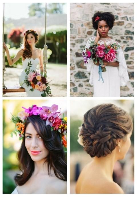 3 tropical wedding hair tips and 24 ideas