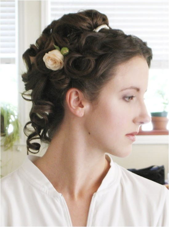 victorian wedding hairstyle reader request
