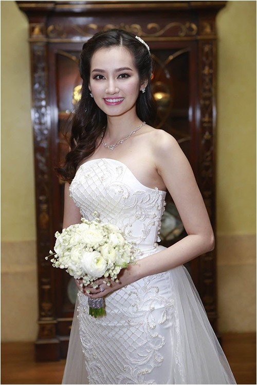 beautiful wedding hairstyle vietnamese celebrities