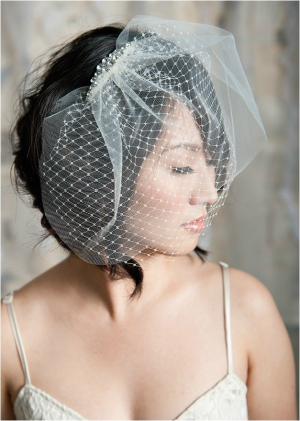 hairstyles for the birdcage veils