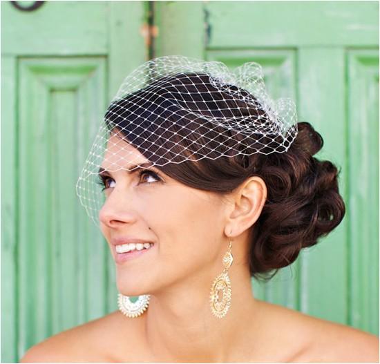 vintage wedding hairstyles with birdcage veiltml