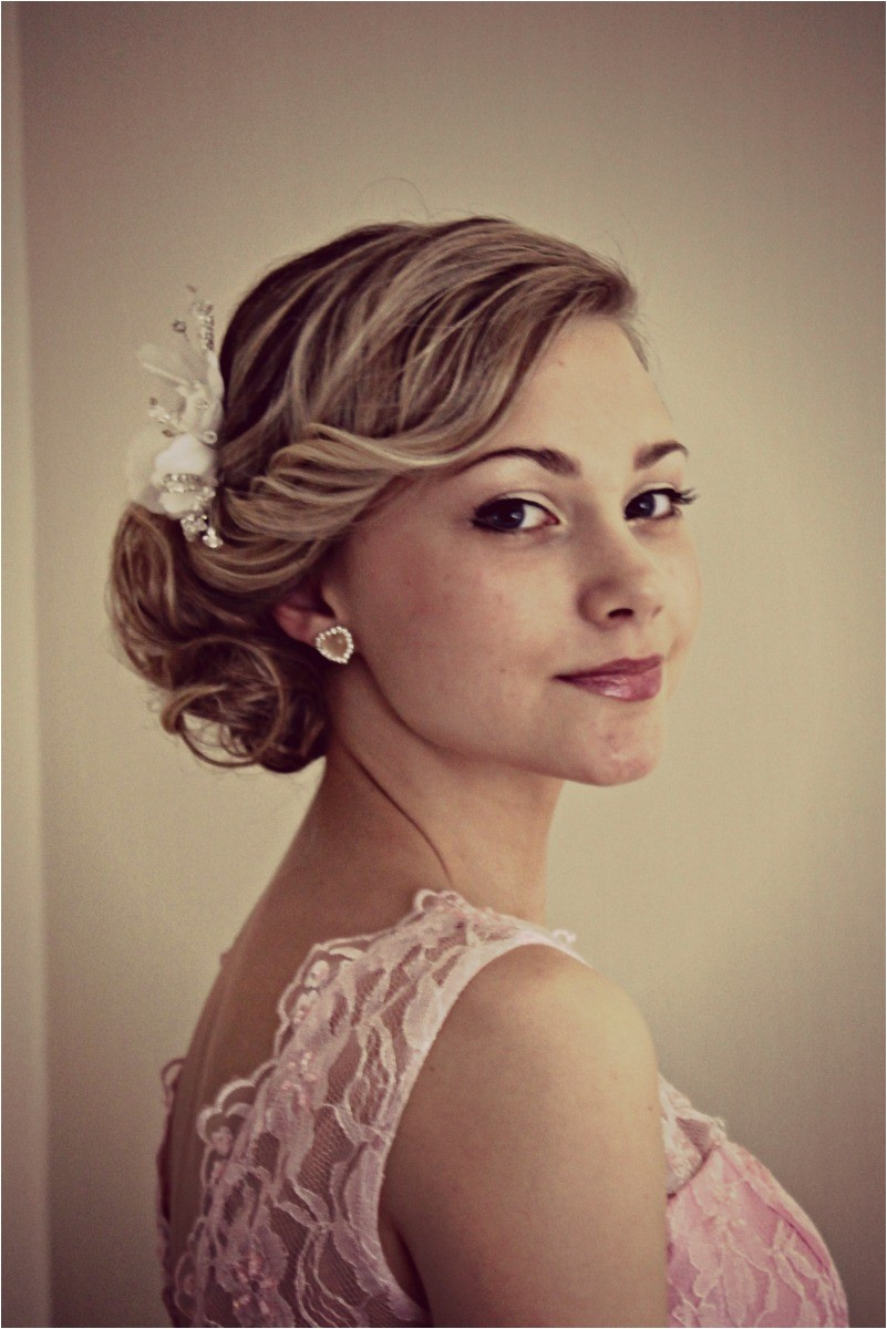 bridal hairstyles side bun