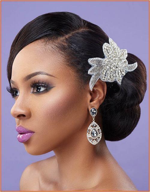 5 tremendous natural wavy wedding hairstyles for black women