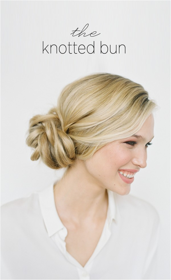 Wedding Hairstyles for Long Hair Buns Diy Knotted Bun Wedding Hairstyle
