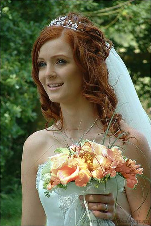 long half up and half down wedding hairstyles