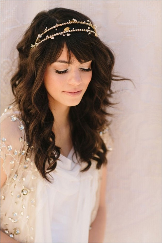 wedding hairstyles half up with tiara