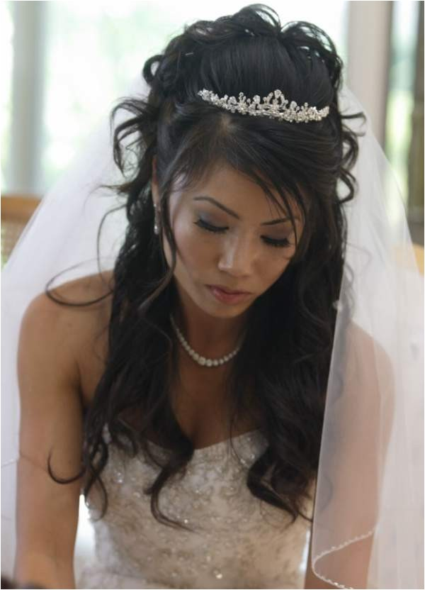 stunning look with long wedding hairstyles with headband
