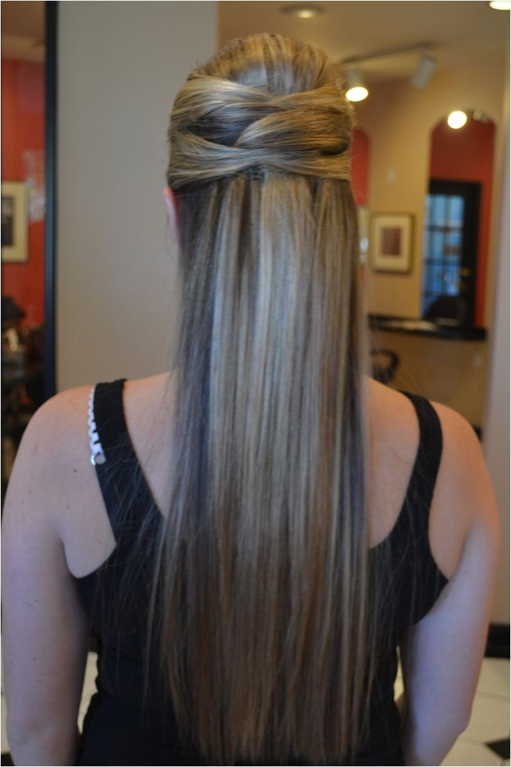 Wedding Hairstyles for Long Straight Hair Down 1