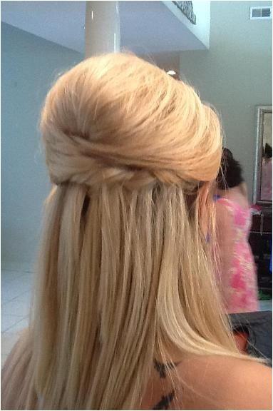 half up half down wedding hairstyle ideas for short hair brides bridesmaids