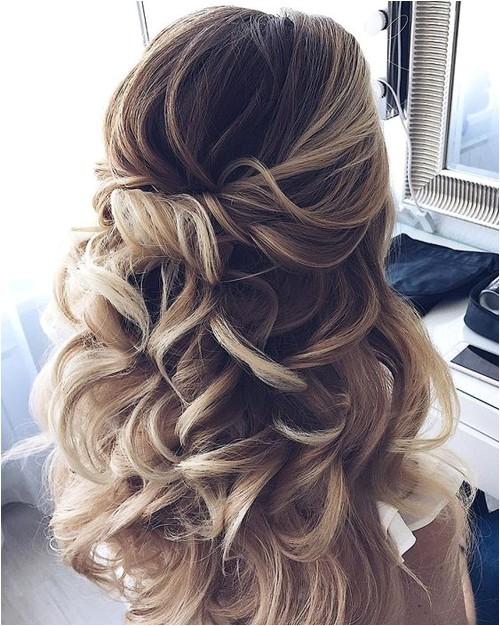 Wedding Hairstyles for Medium Hair 2018 Partial Updo Wedding Hairstyles 2018 for Medium Hair