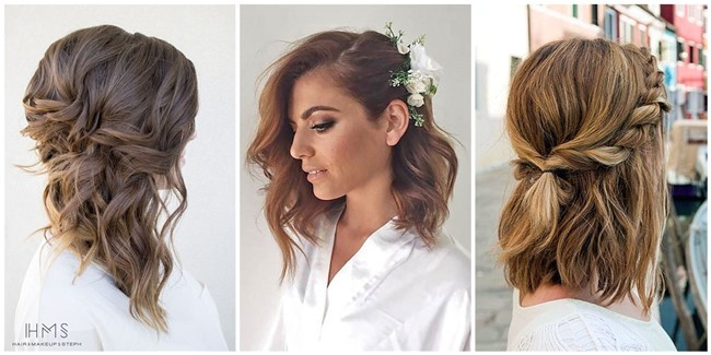 lovely medium length hairstyles for weddings
