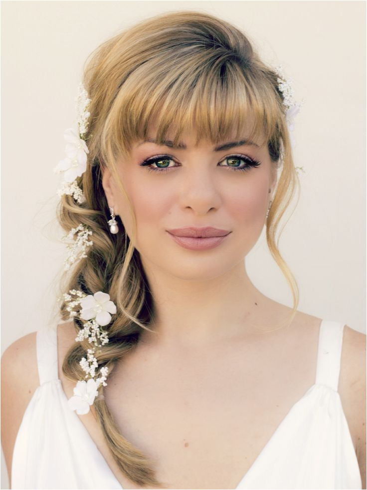39 romantic wedding hairstyles with bangs