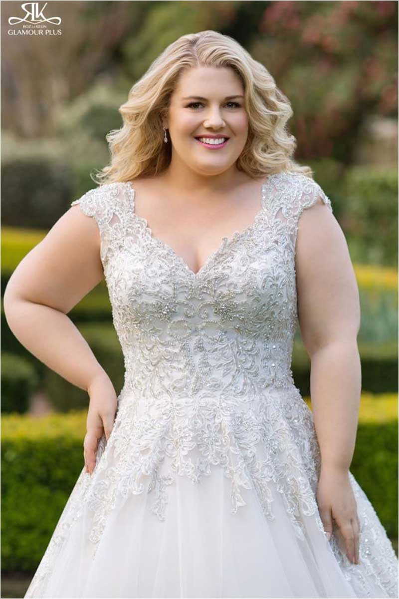 plus size wedding dress styles for problem areas