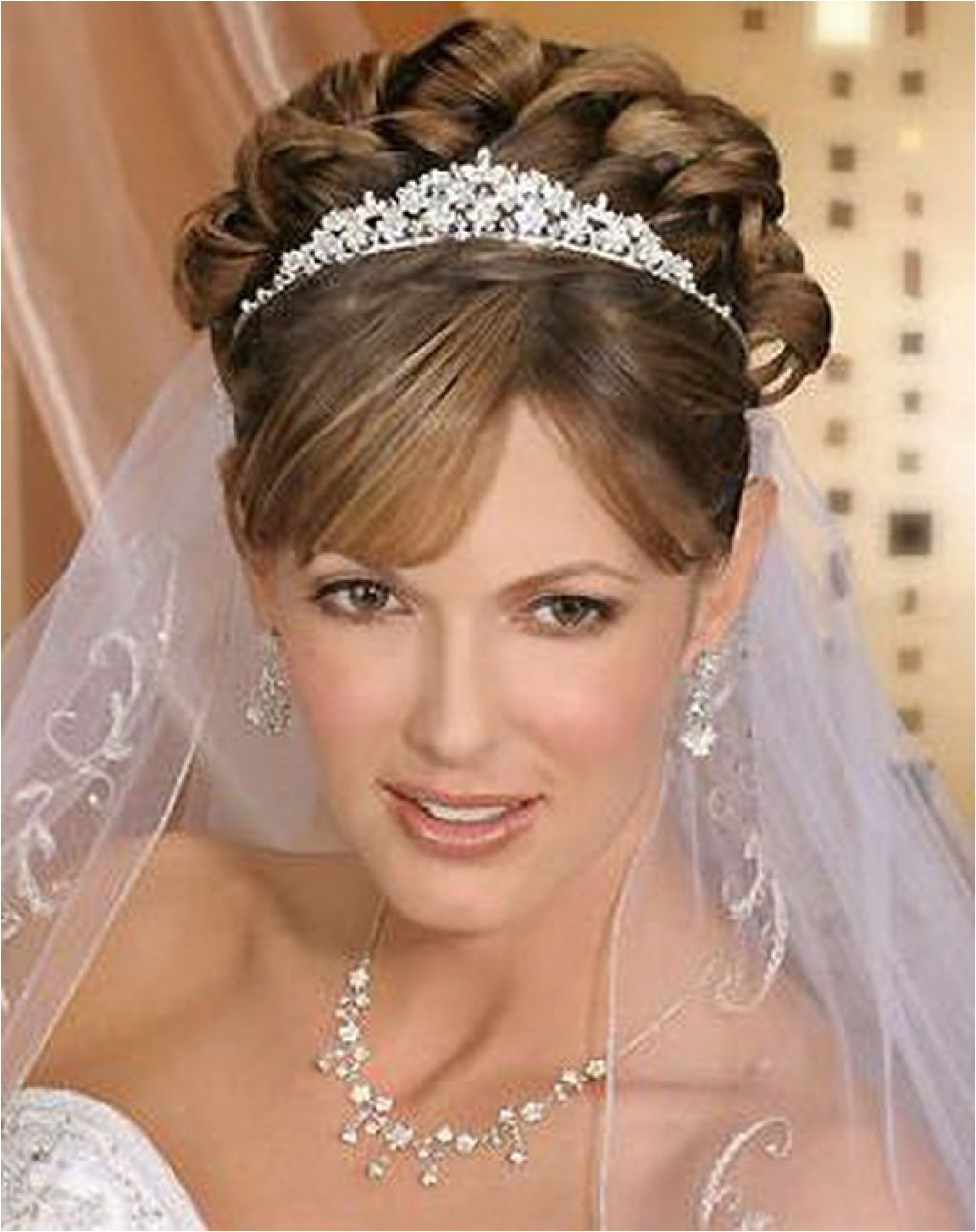 tiara wedding hairstyles ideas for brides