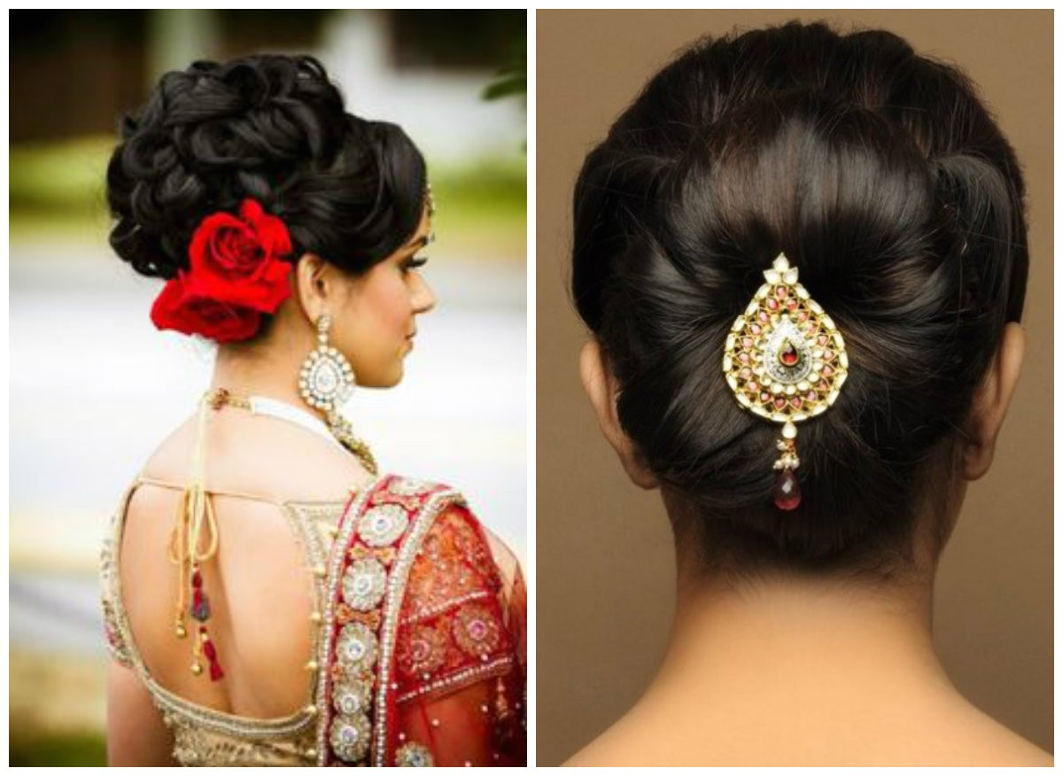 various indian hairstyle of medium length for weddings