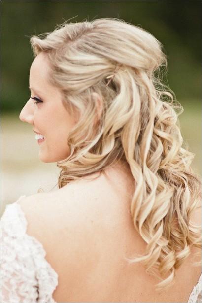 the half up half down wedding hairstyles