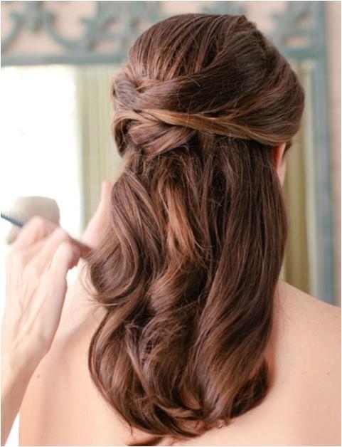 wedding hairstyles pretty half half