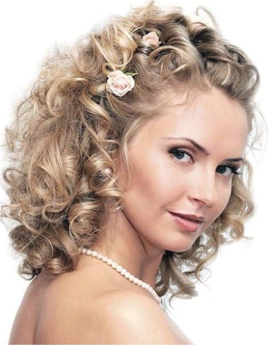 wedding hairstyles curly hair medium