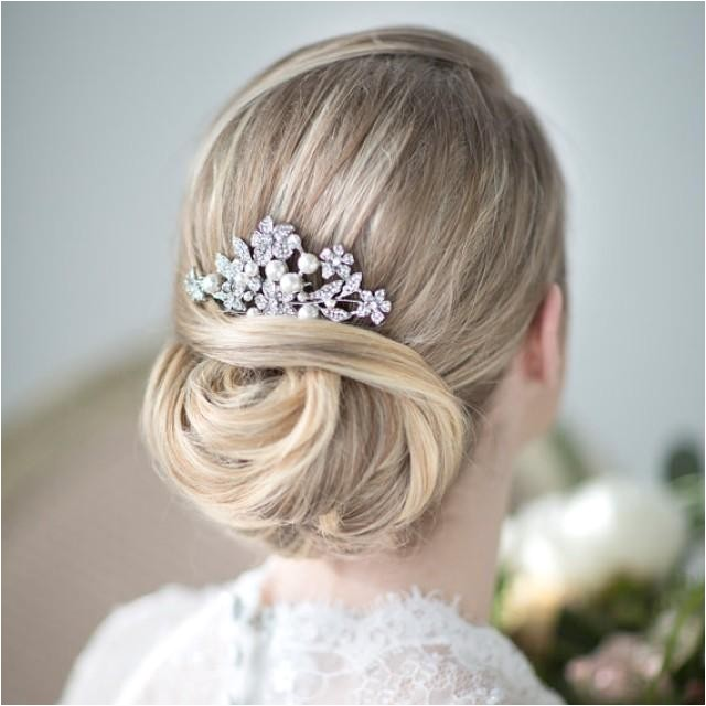 Wedding Hairstyles with Pearls Bridal Hair B Wedding Head Piece Crystal and Pearl