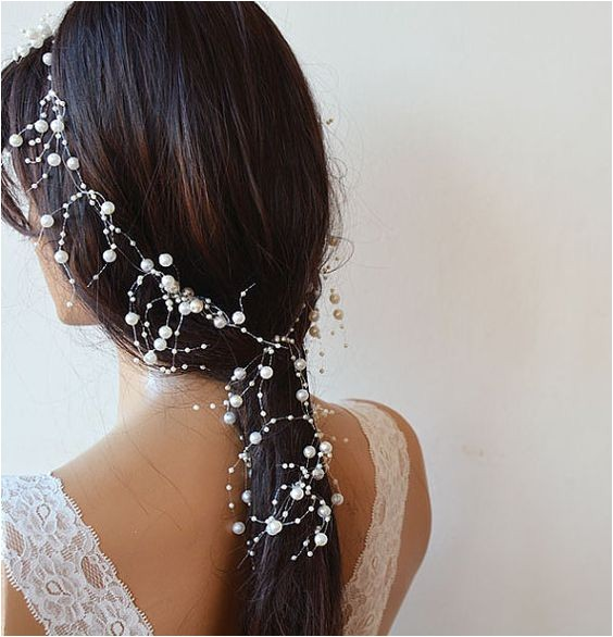 Wedding Hairstyles with Pearls Pearls Hair Accessories Designs for Bridal Ideas