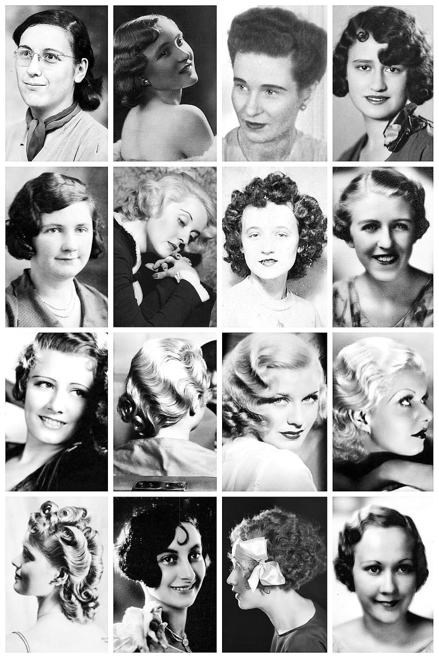 1930 s Hairstyles A collection of 1930 s