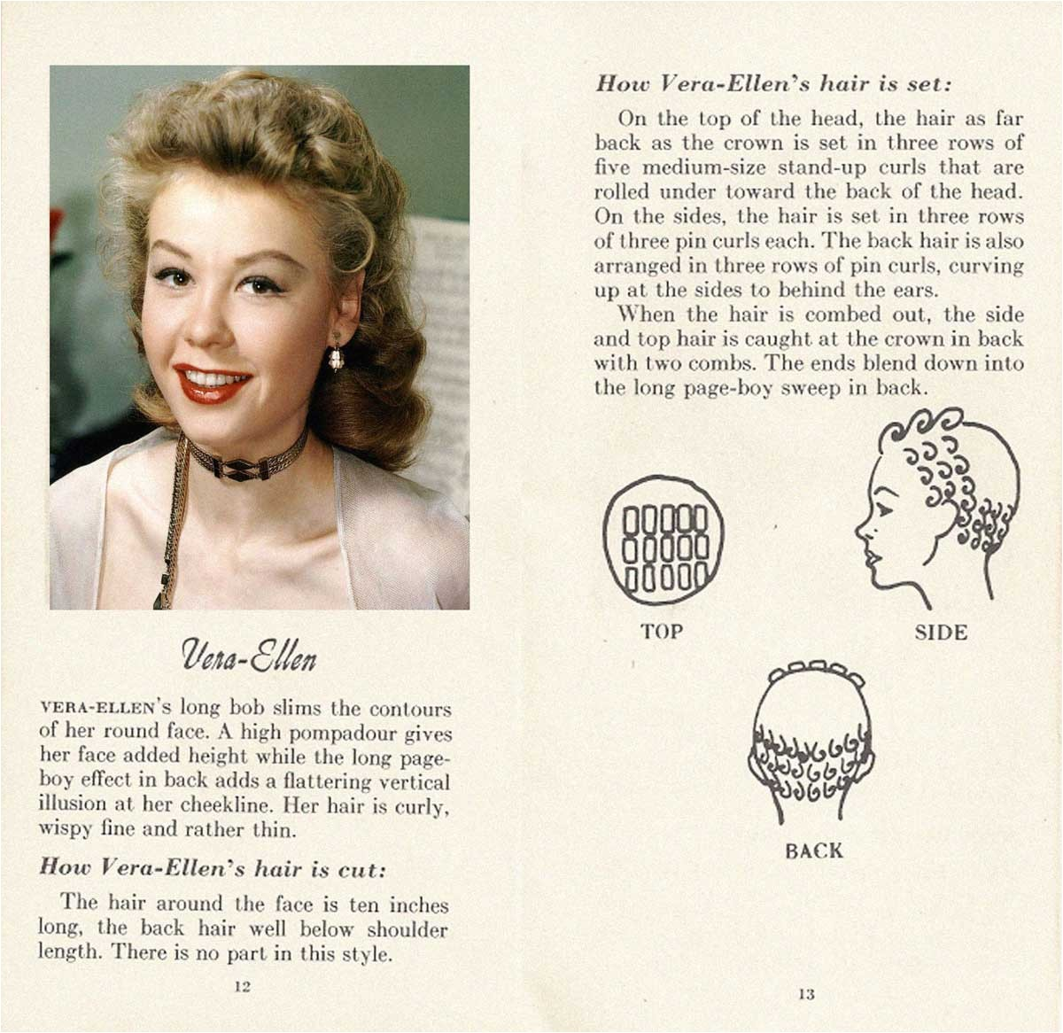 10 HOLLYWOOD HAIRSTYLES of the 50s VERA ELLEN