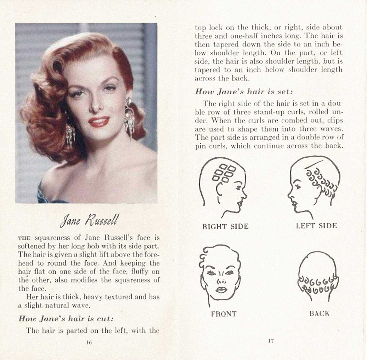 10 HOLLYWOOD HAIRSTYLES of the 50s Jane