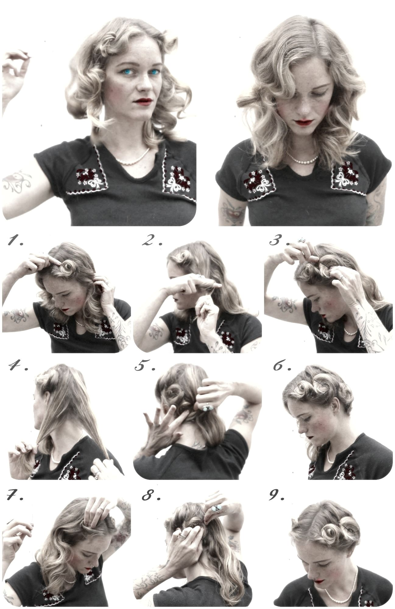 1940s Womens Hairstyles How to Create Easy 1940s Pin Curl Set for Fine Thin Hair