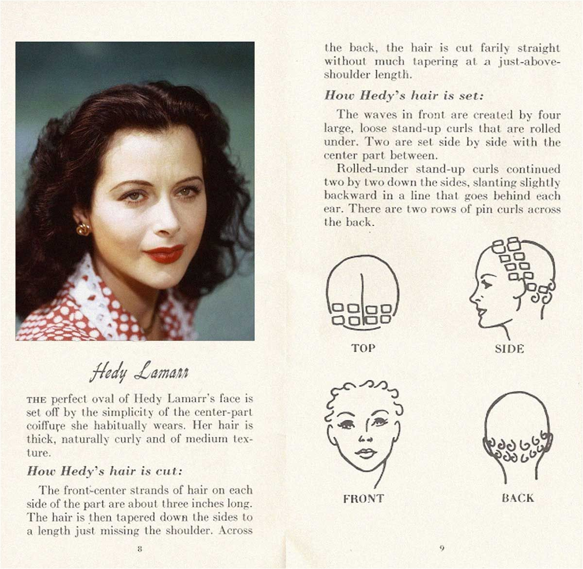 10 HOLLYWOOD HAIRSTYLES of the 50s HEDY LAMARR