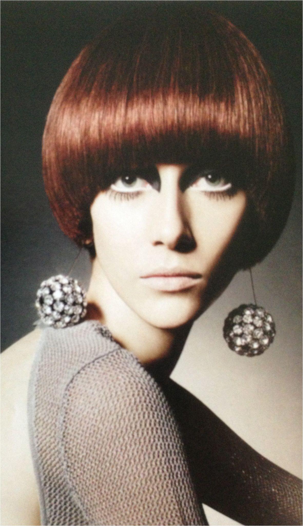 1960 s Mod Hair & Makeup round bowl cut Mod Hair 60 Fashion