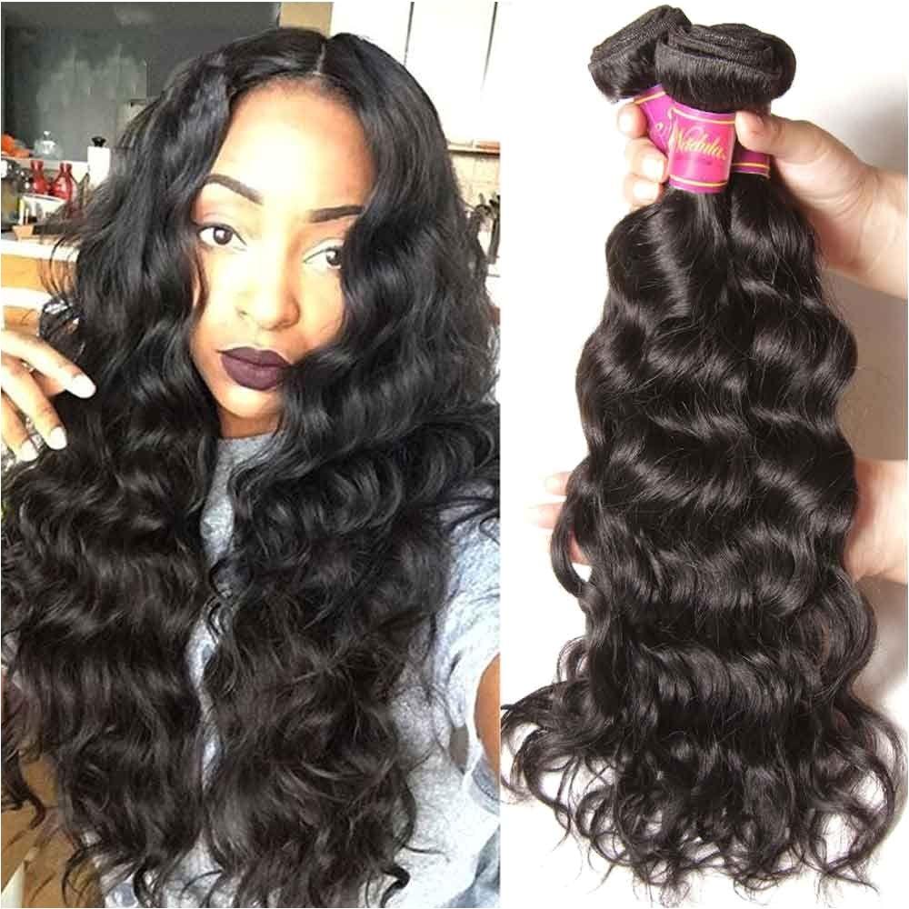 Nadula Cheap Peruvian Virgin Hair 4 Bundles Natural Wave Thick Wavy Peruvian Human Hair Weave