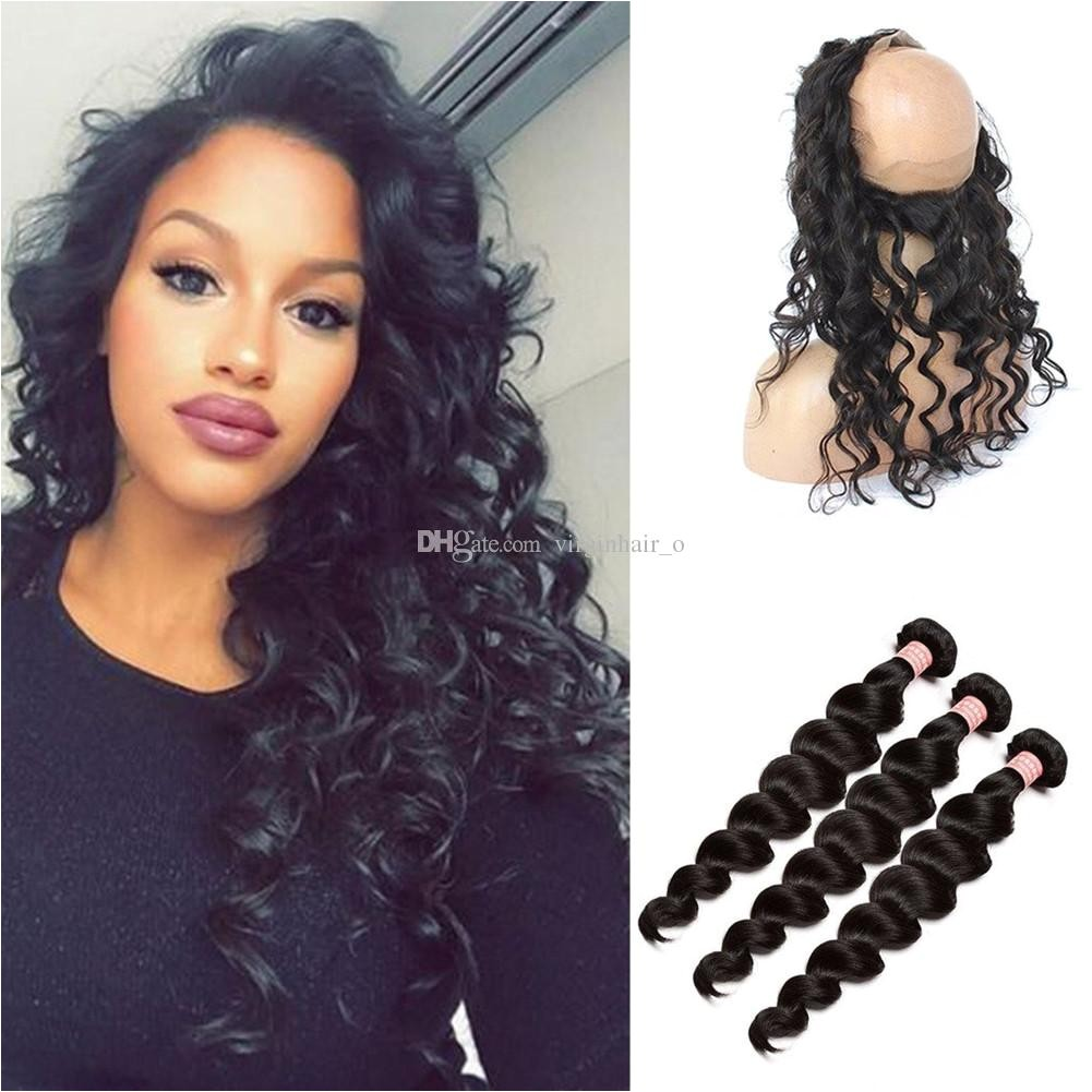 Best 9A Malaysian Hair Loose Deep Wave Ear To Ear 360 Degree Lace Band Frontal Closure With Virgin Human Hair Weave Bundles Under $110 6