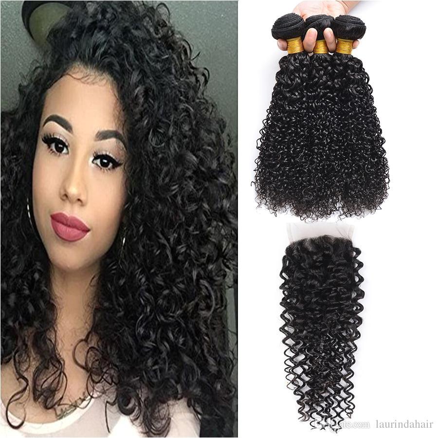 Best Cheap Human Hair With Closure Brazilian Deep Wave  Human Hair Extensions Brazilian Deep Curly Weave Human Hair Bundles Under $126 71