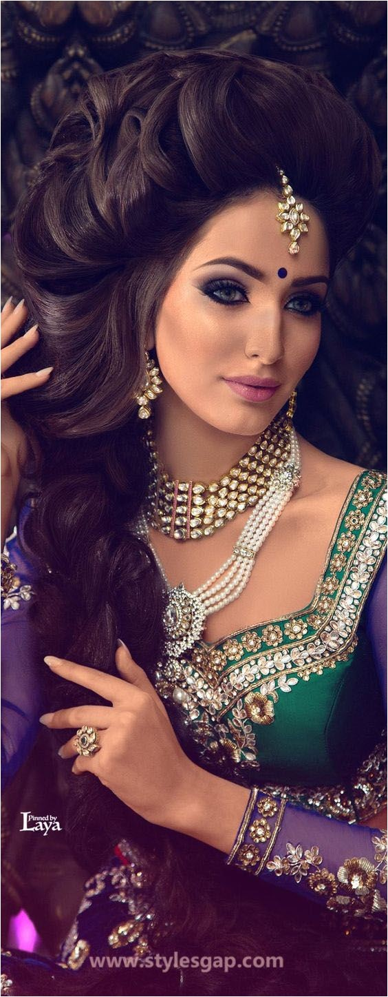 Indian party wear hairstyles