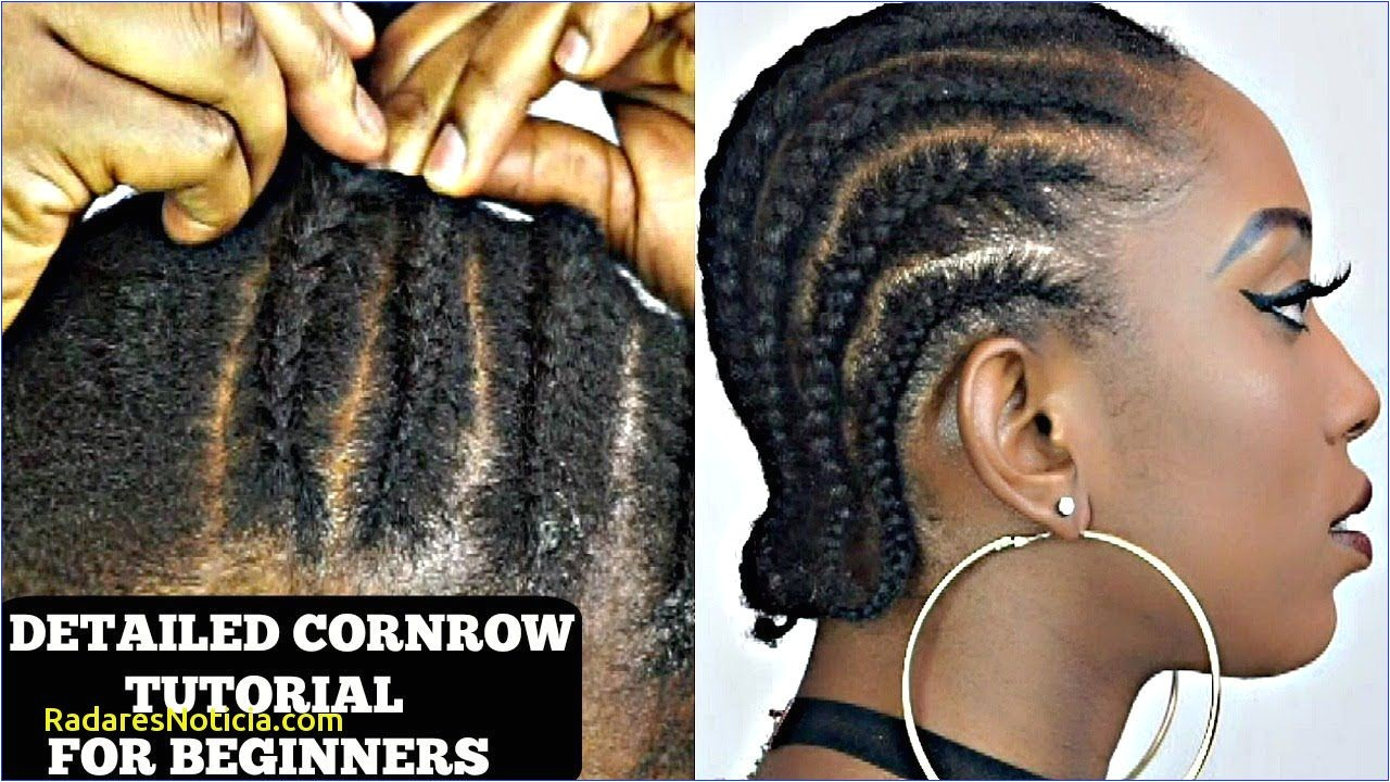 Cornrow Hairstyles for Short Natural Hair How to Cornrow Your Own Short Natural Hair Tutorial