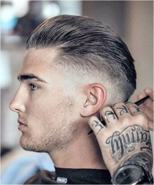 Low Fade with Slick back haircut