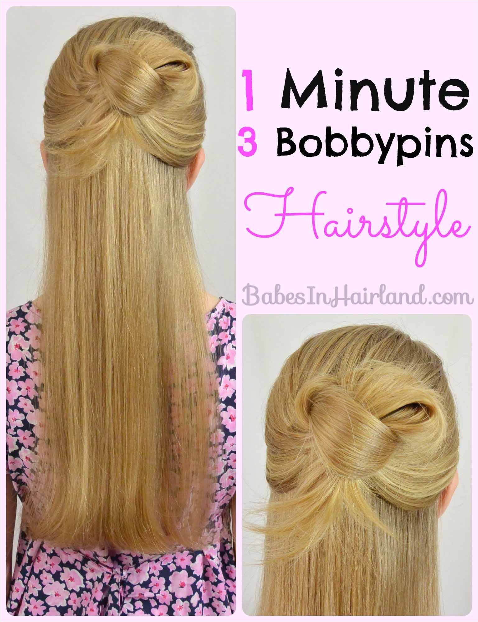 Easy 1 Minute Hairstyle